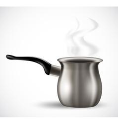 iron pot vector image vector image