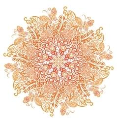 mandala White background Red ornament vector image