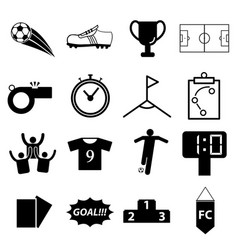 soccer football icon set vector image