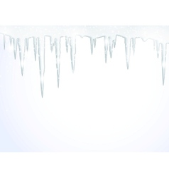 The icicles vector image vector image