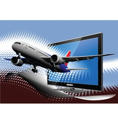 3d television vector image