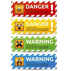 Danger banner vector