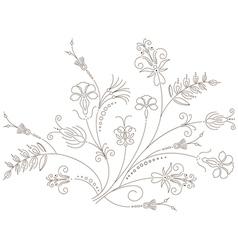 Floral ornament flower pattern vector image vector image