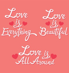 Lettering About Love vector image vector image