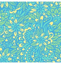 Blue flowers Seamless decorative pattern vector image vector image