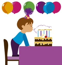 Boy in his birthday vector image