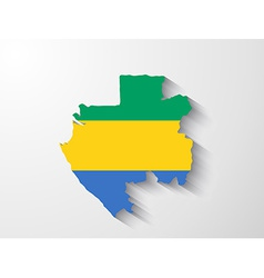 Gabon map with shadow effect vector image