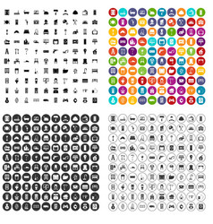 100 comfortable house icons set variant vector