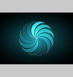 Abstract blue backgound vector image
