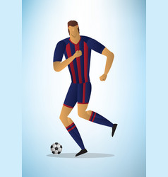 abstract of football player vector image