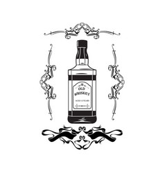 alcohol bottle old whiskey drink drinking cocktail vector image