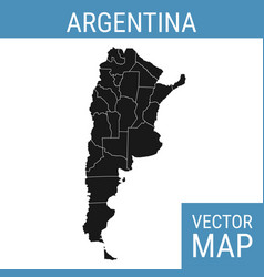 Argentina map with title vector