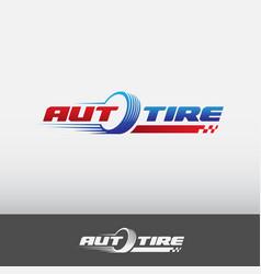 auto tire logo vector image