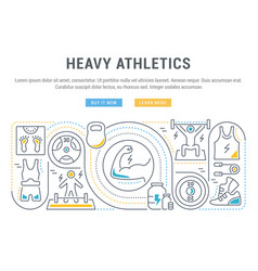 banner heavy athletics vector image