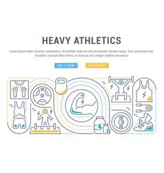 banner heavy athletics vector image