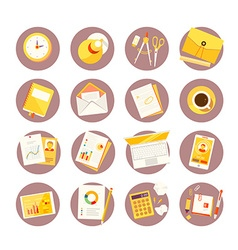 big set of colorful study icons on white vector image