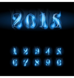 Blue fire numbers vector