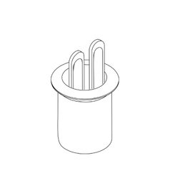 Bunny in a hat magic icon isometric 3d style vector