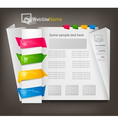 Business website design vector