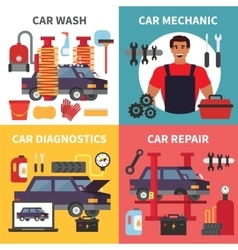 Car service maintenance Auto transport vector image