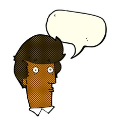 Cartoon surprised expression with speech bubble vector