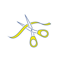 ceremony ribbon cut icon vector image