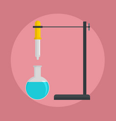 chemical flask icon flat style vector image