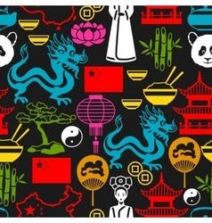 China seamless pattern Chinese symbols and vector image