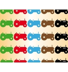 Color seamless patern tractor vector