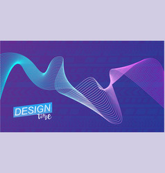 Colored wave poster for sports vector