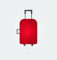 colorfull travel bag suitcase flat icon vector image