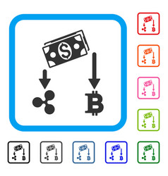 cryptocurrency cashflow framed icon vector image