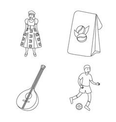 Design tourism and landmark logo set of vector