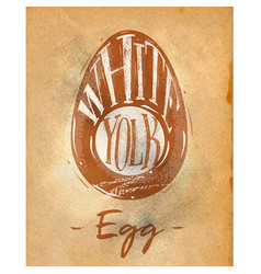 egg cutting scheme craft vector image