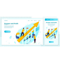eps set rising arrow with business charts vector image