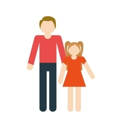 Family father and daughter fun relation vector
