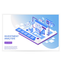 finance growth and research business strategy vector image