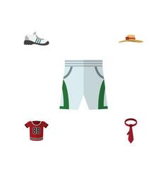 flat icon clothes set of cravat trunks cloth t vector image