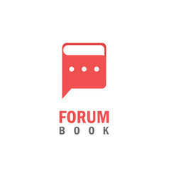Forum book logo vector