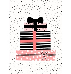 Gift Boxes Greeting Card Design vector image