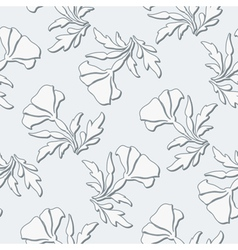 Grey floral pattern vector image