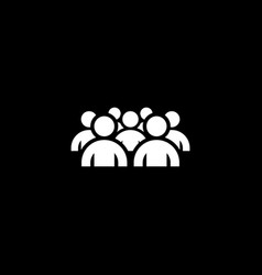 Groupe of people icon business concept flat vector