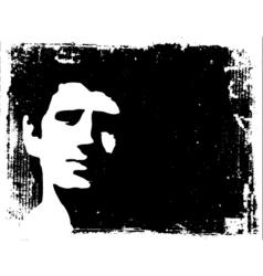 Grunge man background vector