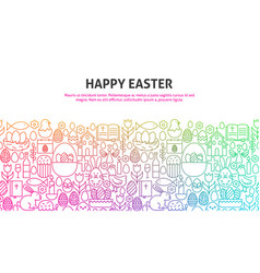 Happy easter concept vector