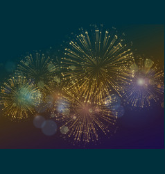 Holiday fireworks background happy new vector
