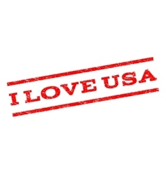 I Love USA Watermark Stamp vector image