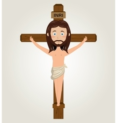 Jesus christ cross crucified desing isolated vector