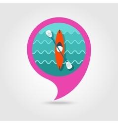Kayak pin map icon Canoe Summer Vacation vector