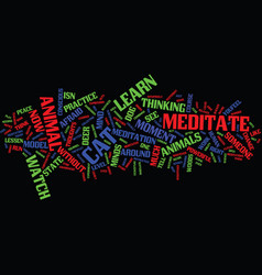 learn how to meditate from animals text vector image