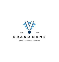 Letter v wireless logo design vector